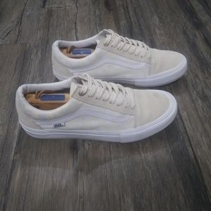 Vans Skate Pro Shoes Size 8.5 Checkerboard Cream